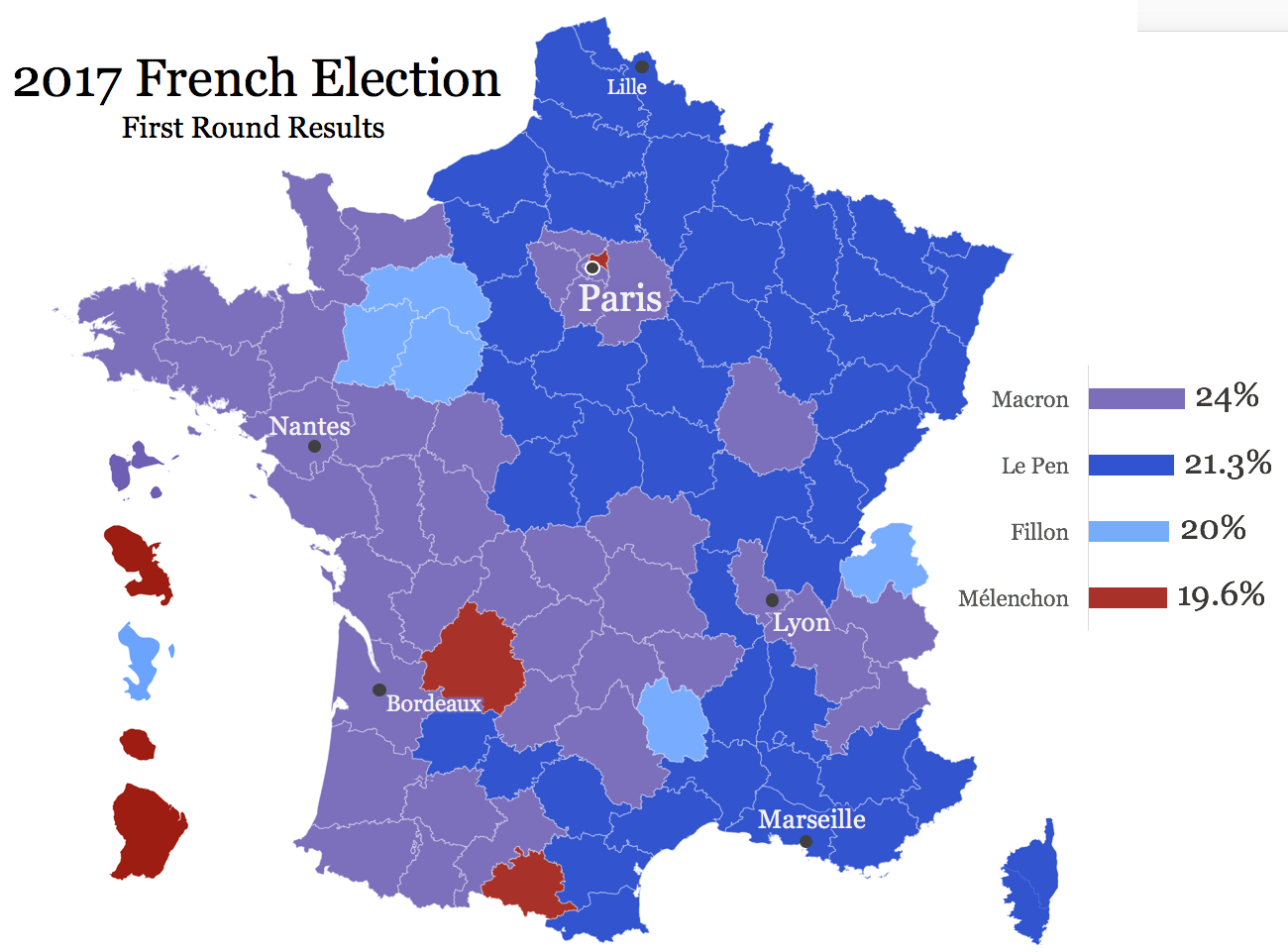 French election results for Interieur gouv elections