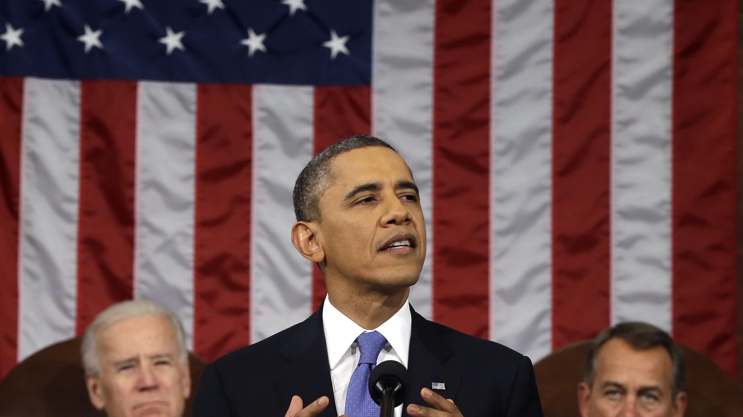 obama state of the union The state of the union is the annual speech the president gives to the joint session of congress the us constitution, article ii, section 3, says, the president shall from time to time give to the congress information of the state of the union, and recommend to their consideration such.