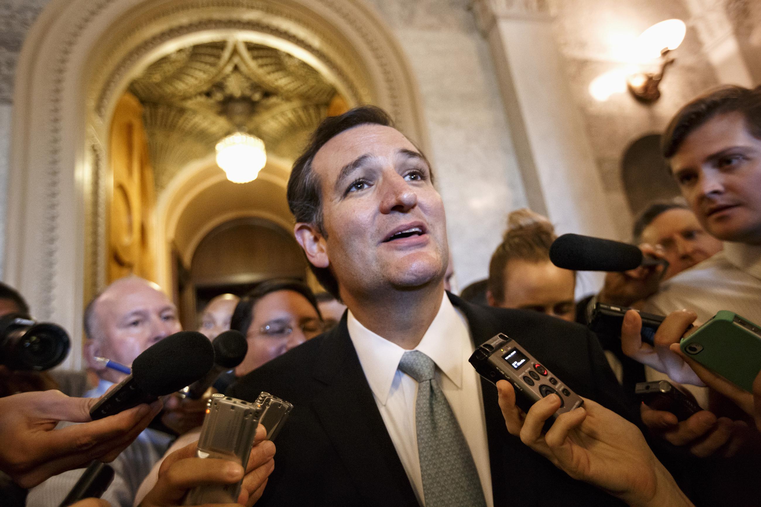 Cruz Marathon Against Obamacare Widens Rift Among Senate Republicans