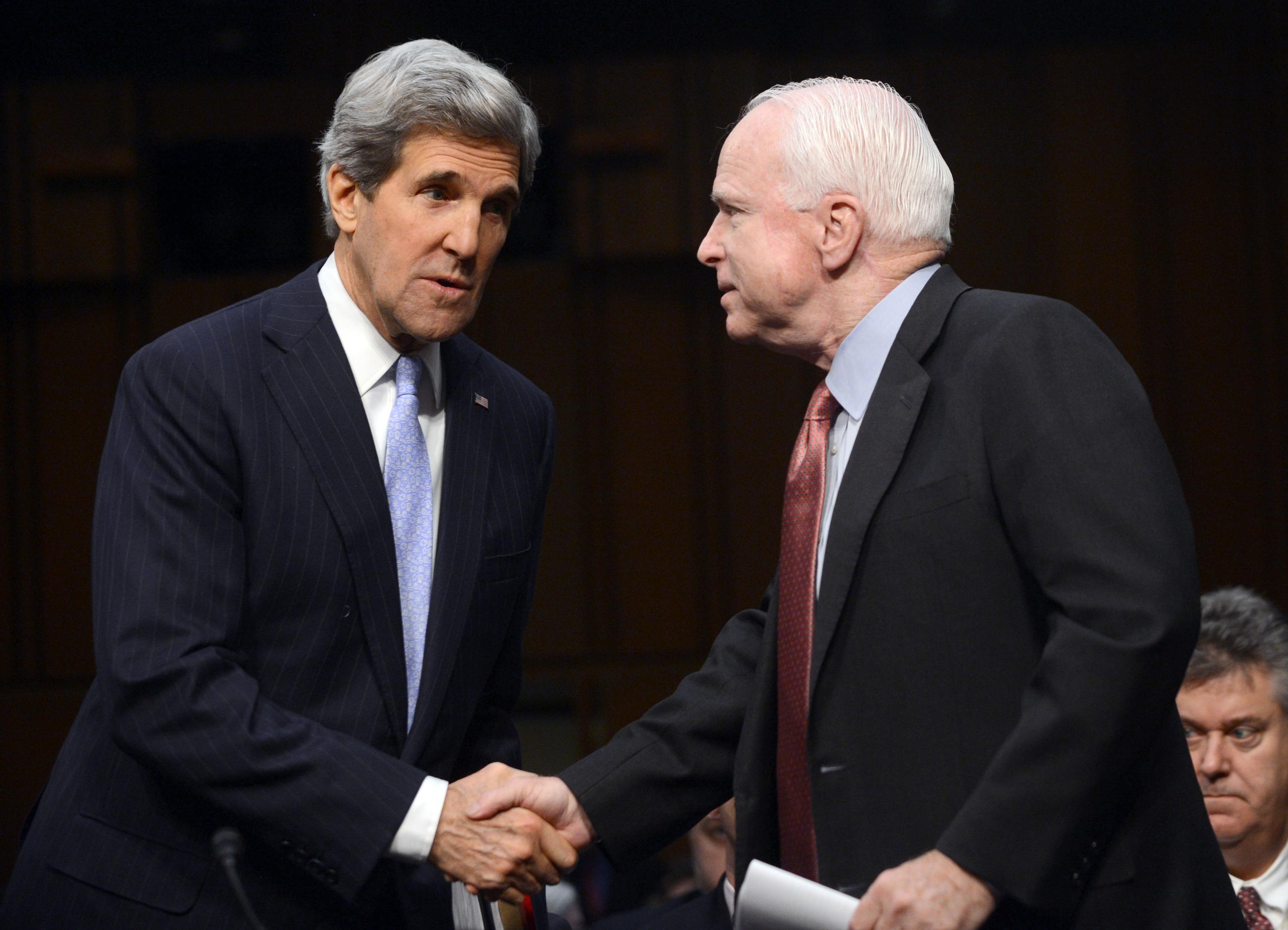 McCain Doesn't Think Kerry Should Be Focusing on Climate Change