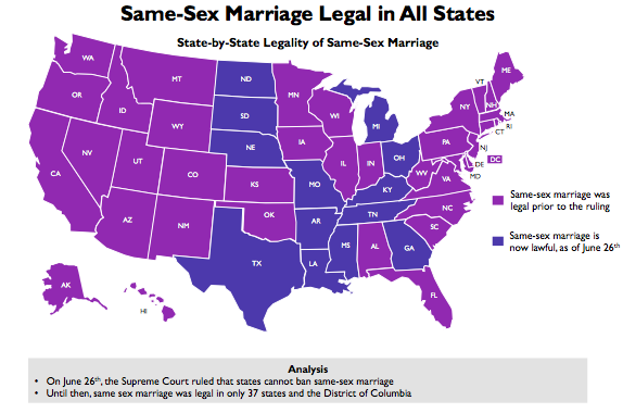 same sex marriage legalized federally in Augusta