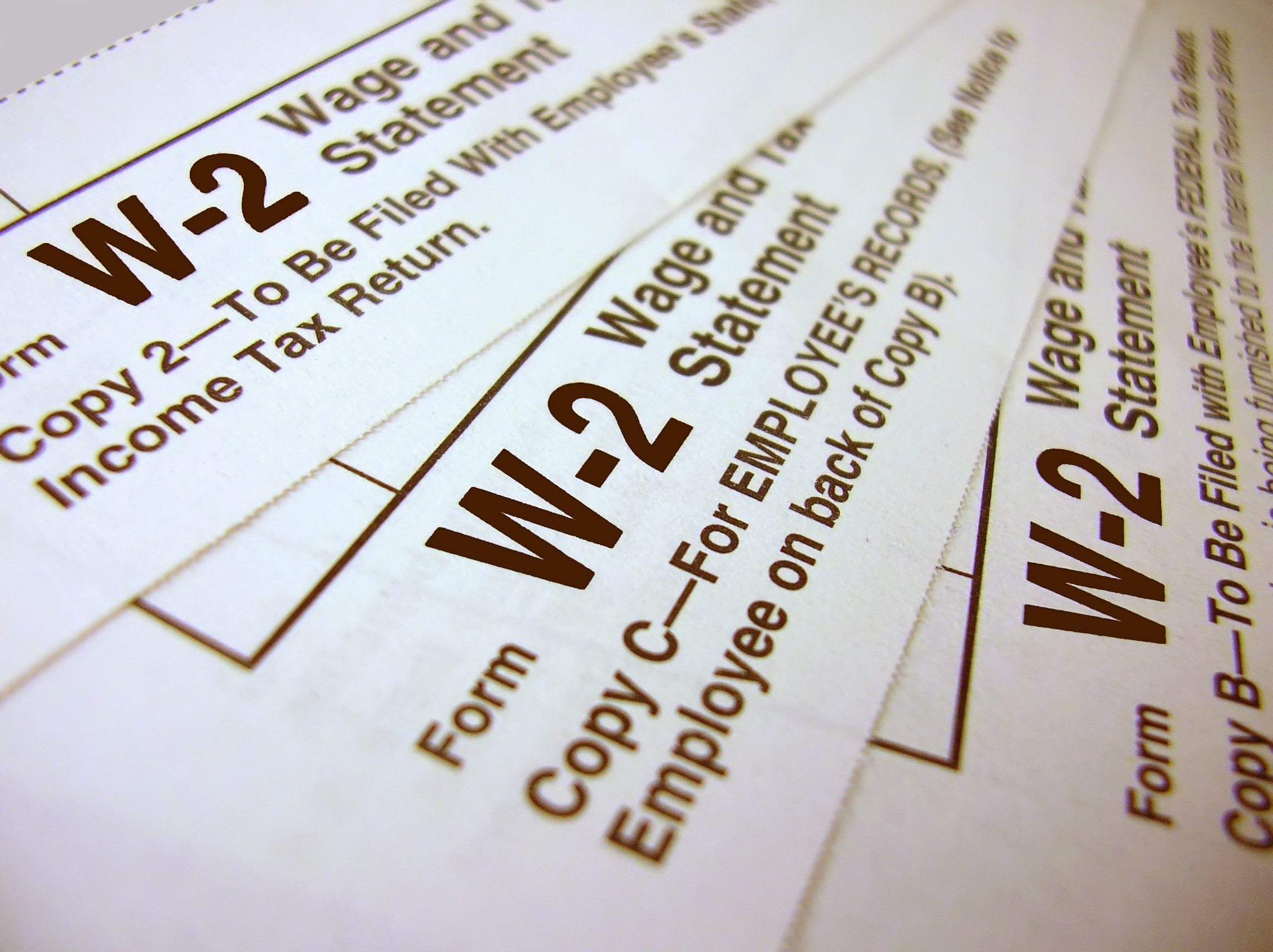 Employee W2 Form  IRS