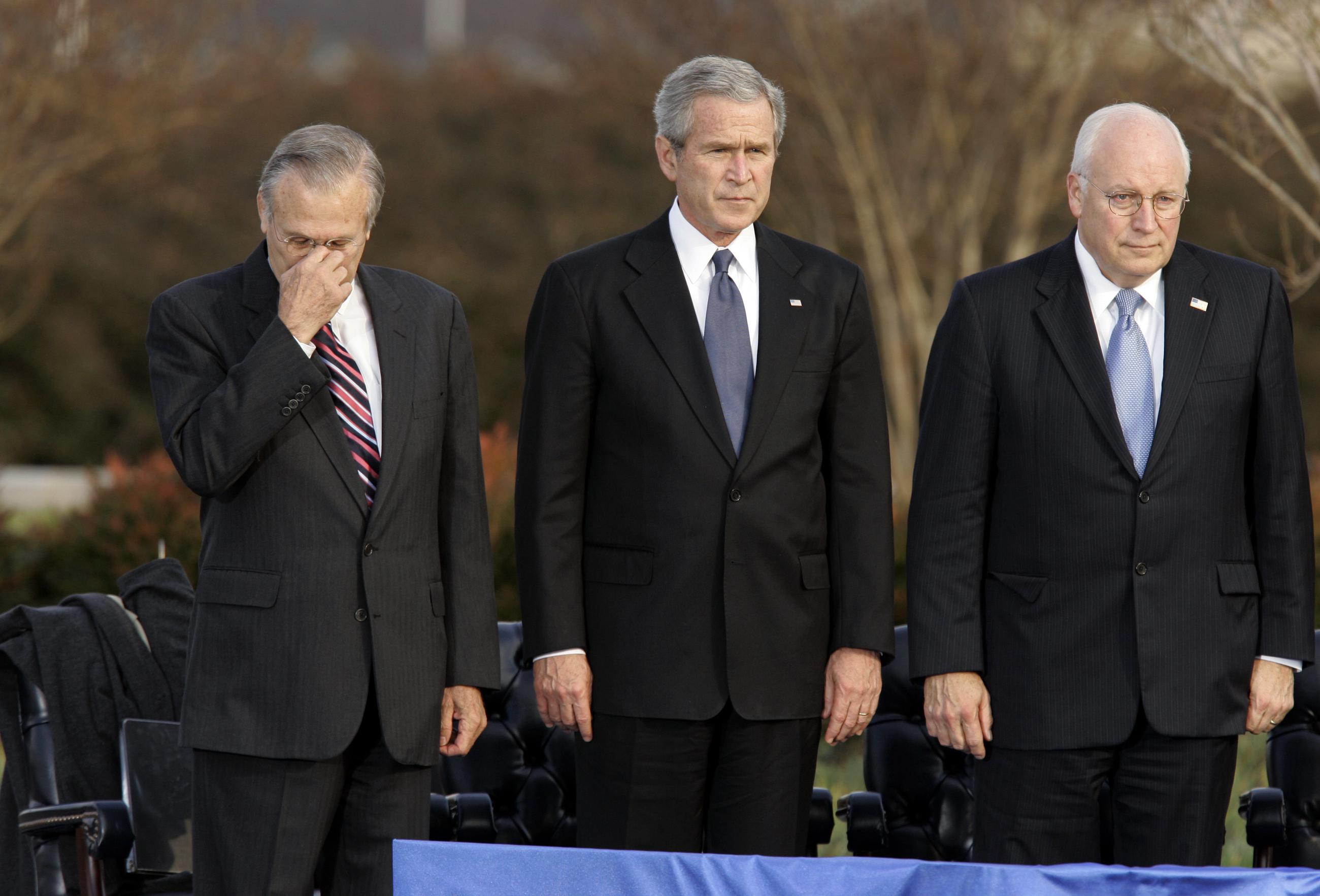 George H W Bush Hits Cheney Rumsfeld