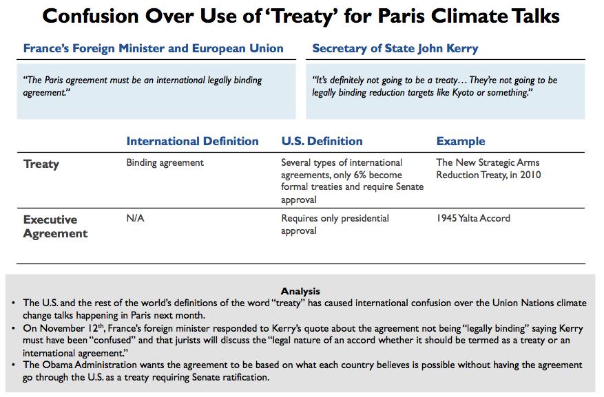 Paris Climate Talks Confusion Over Treaty