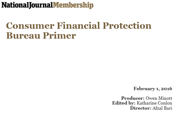 consumer financial protection bureau primer. Black Bedroom Furniture Sets. Home Design Ideas