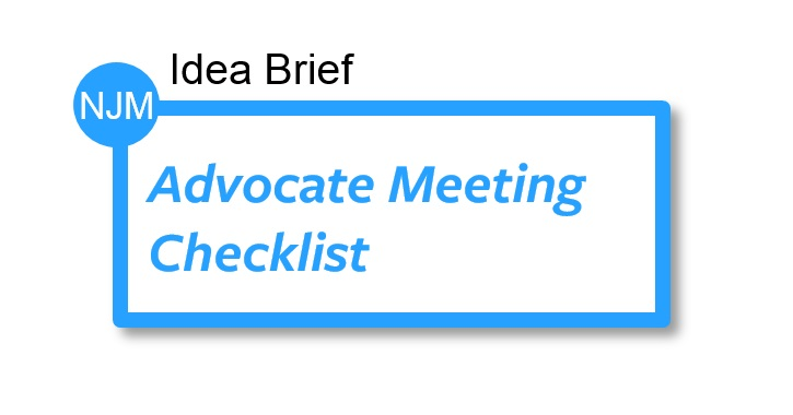 Advocate Meeting Checklist