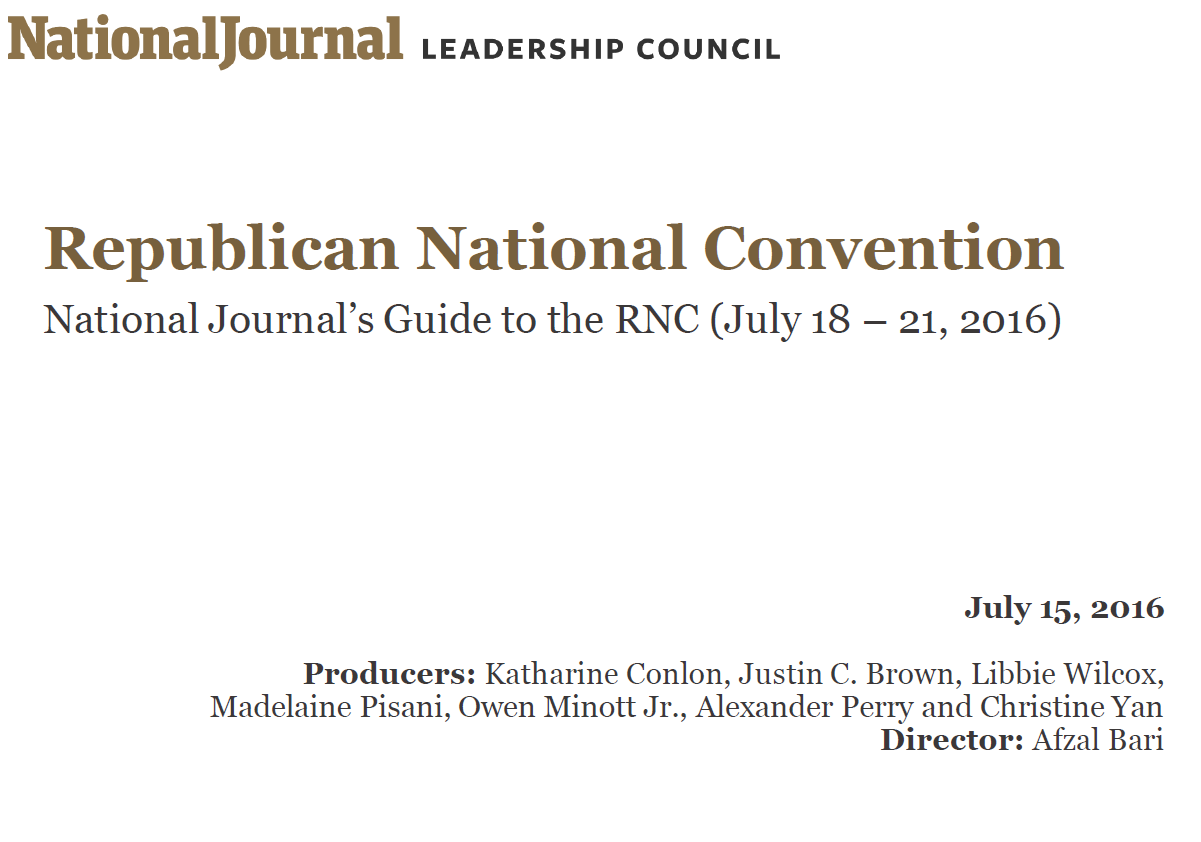 Guide to the 2016 Republican National Convention