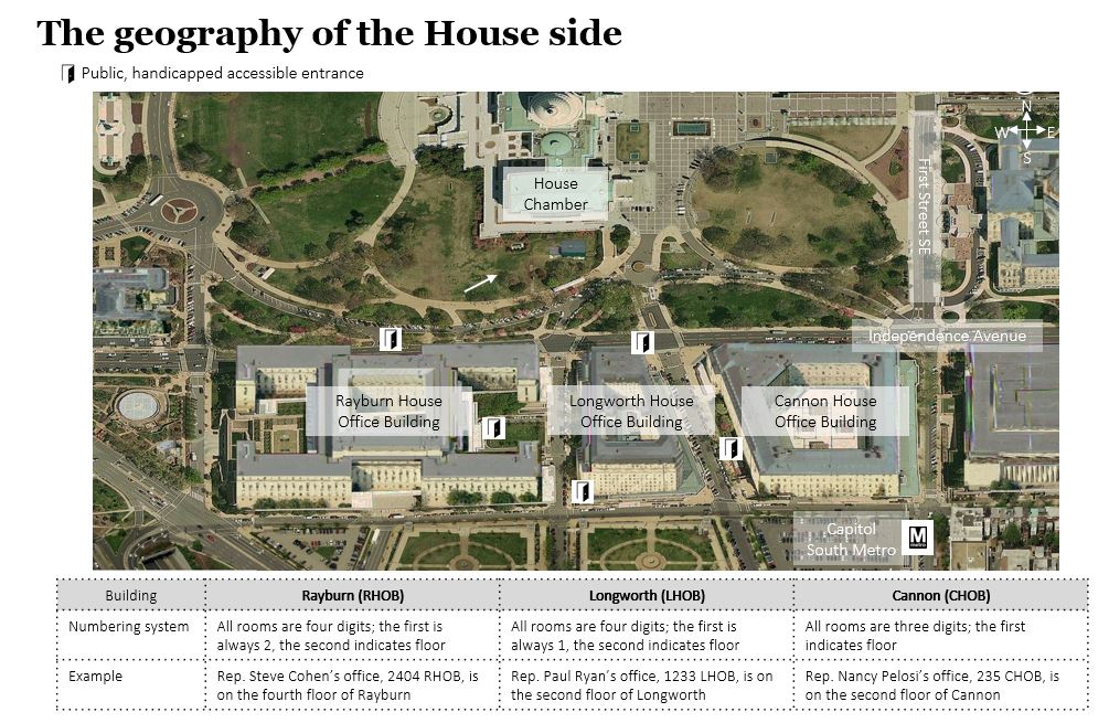 Welcome to the Hill: House side geography