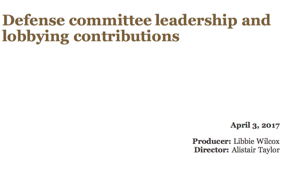 Defense committee leadership and lobbying contributions