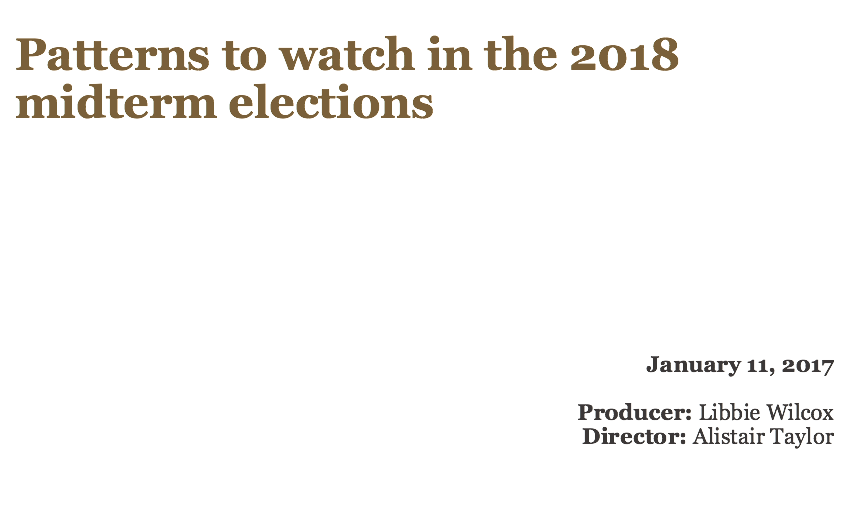 Patterns to watch in the 2018 midterms