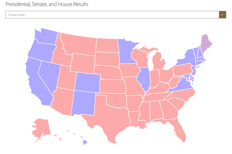 use this map to find our election analysis with senate polls map