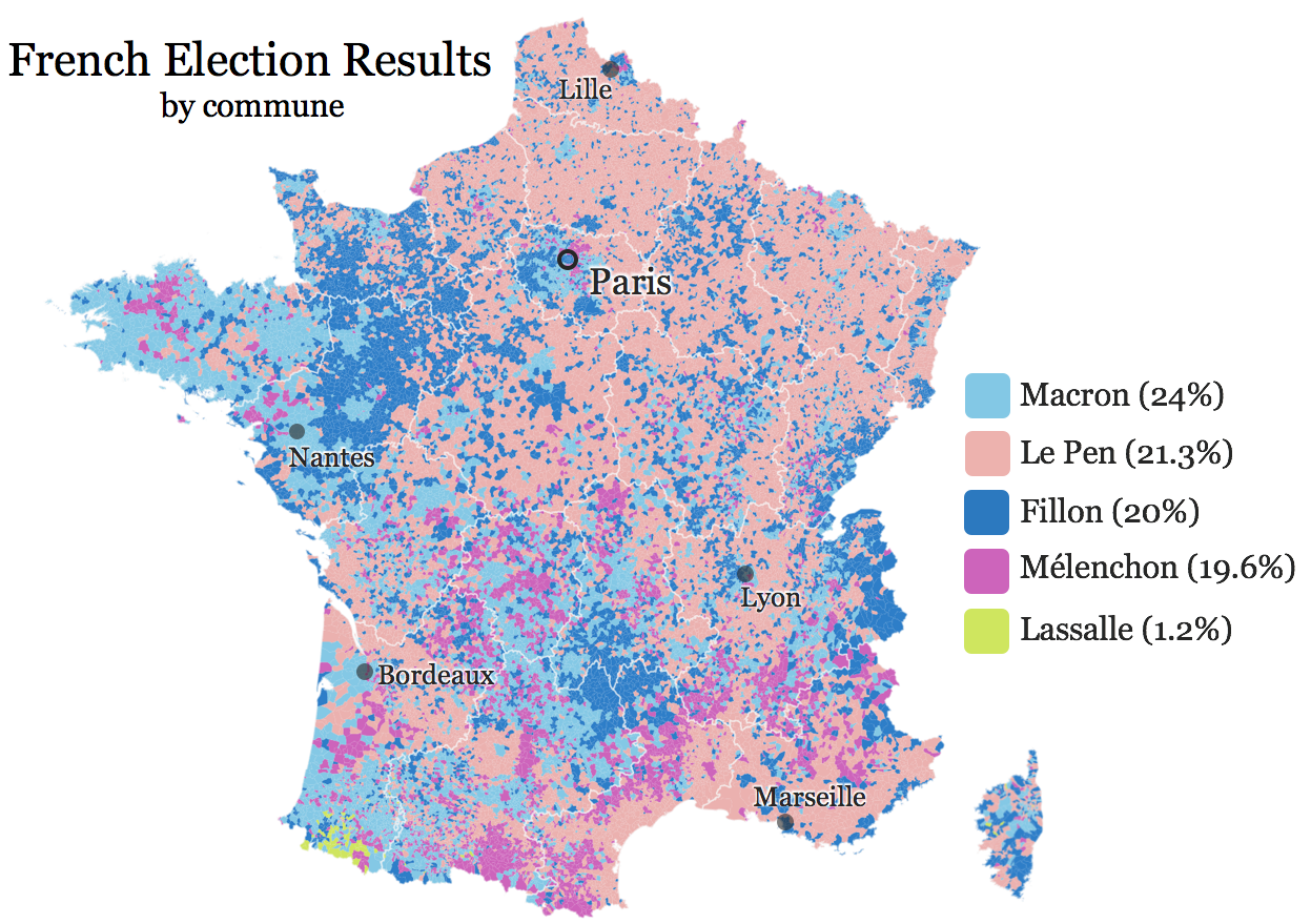 French election results detailed for Elections interieur gouv fr