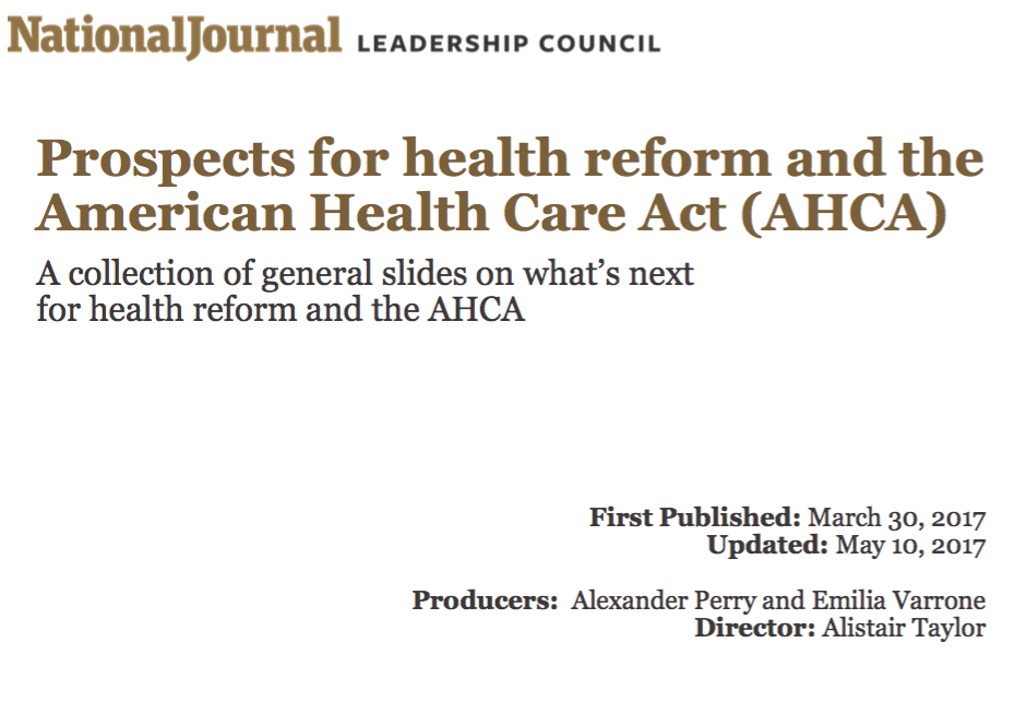 Prospects for health reform and the AHCA [General]