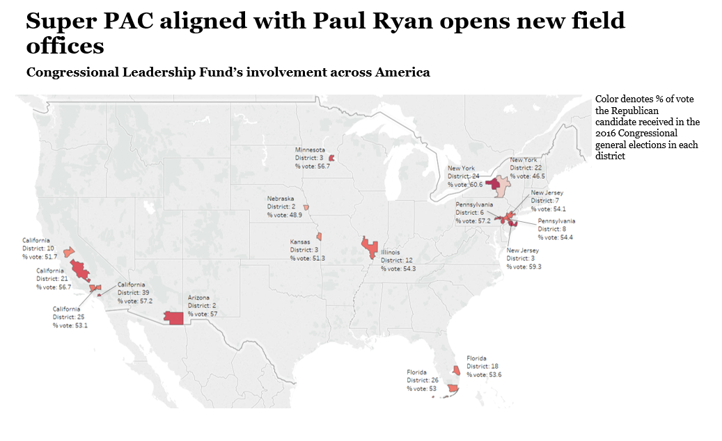 Congressional Leadership Fund's new field offices
