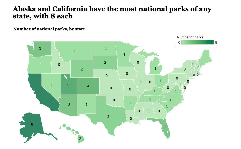 distribution of national parks