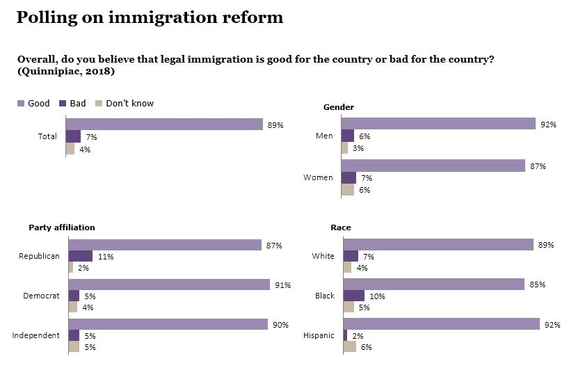 Polling on immigration reform