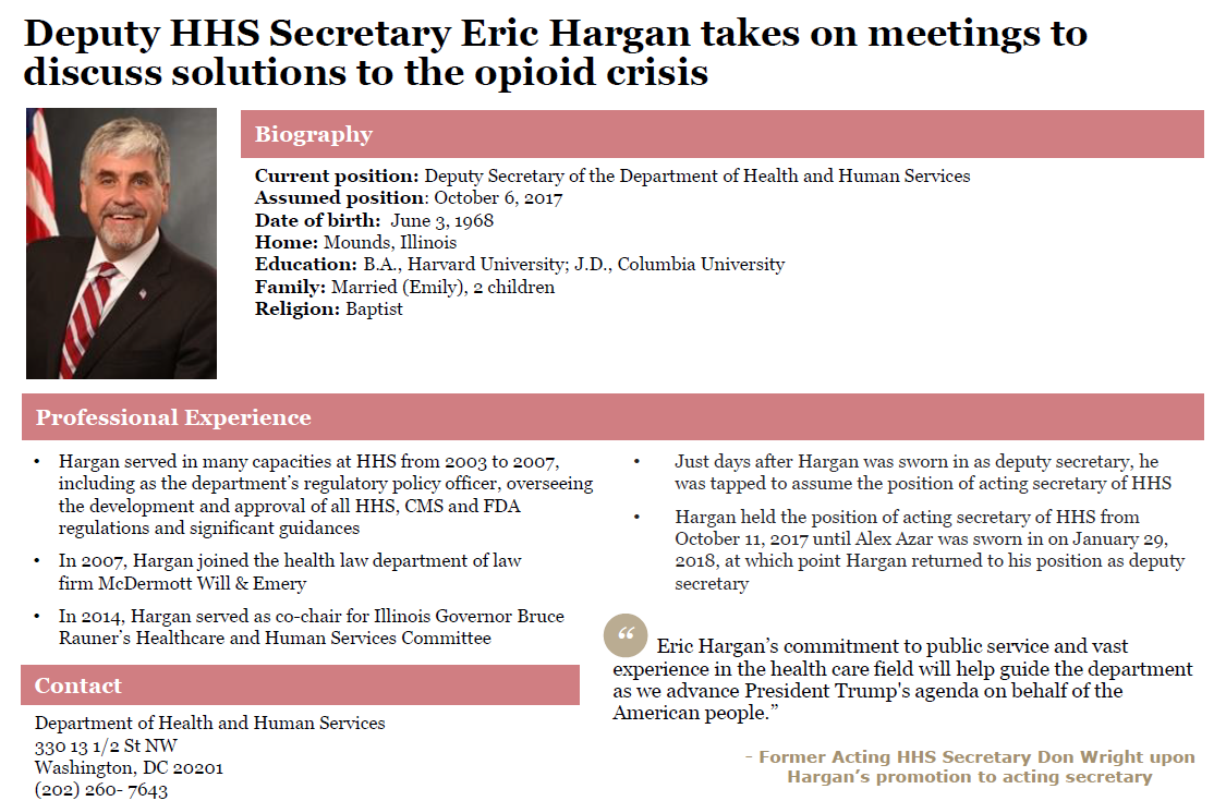 Eric Hargan profile