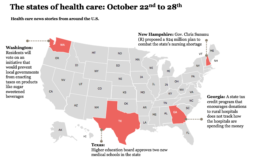 States of health care, week of October 22-28