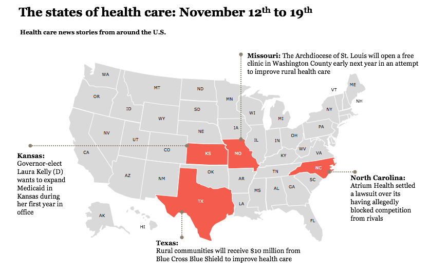 States of health care, week of November 12-18