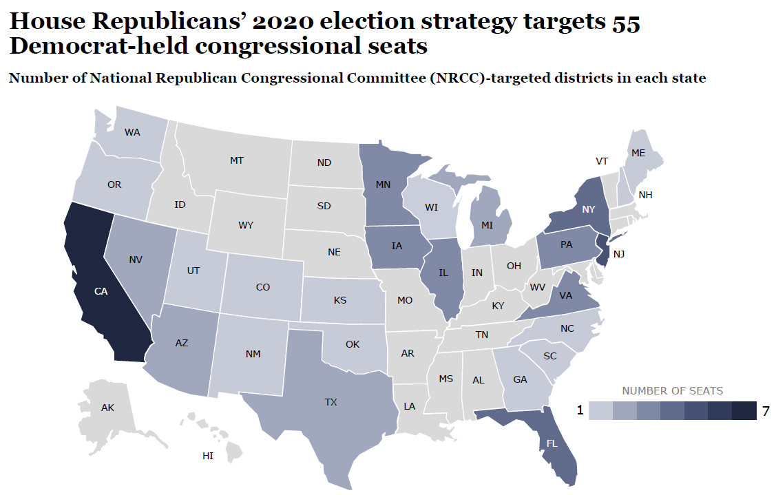 House Republicans' targeted districts for 2020